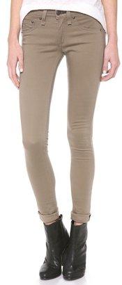 Rag and Bone The Sateen Legging Jeans