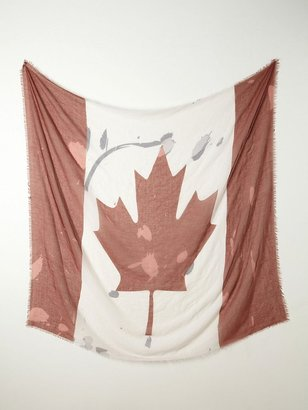 Free People Canada Flag Scarf