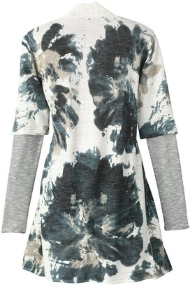 Coldwater Creek Printed knit duster