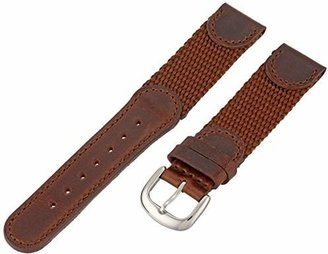 Hadley Roma Hadley-Roma 18mm 'Men's' Leather Watch Strap