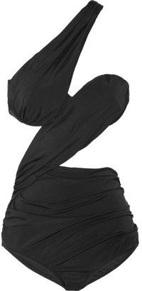Zimmermann Clique Floating Drape cutout swimsuit