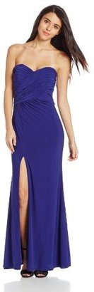 Adrianna Papell Hailey Logan by Juniors Strapless Dress with Beaded Side