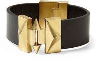 Sam Edelman Leather and Cage Bracelet