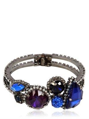 Erickson Beamon Purple And Blue Crystal Bracelet