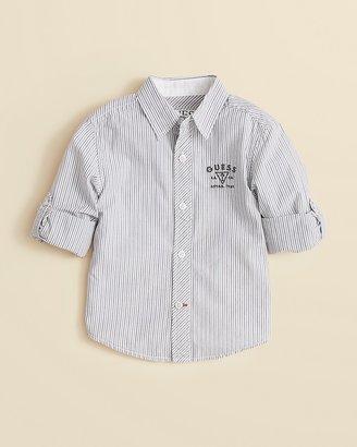 GUESS Boys' Striped Woven Shirt - Sizes 2-7