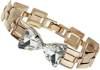 Topshop Premium Link Bow Bracelet
