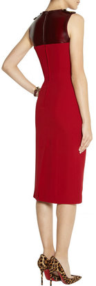 Burberry Silk-crepe and PVC dress