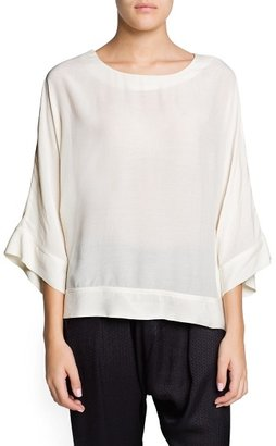 MANGO Outlet Dolman Sleeve Loose-Fit Blouse