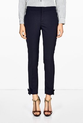 RED Valentino Tailored Bow Hem Trousers