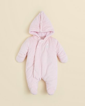 Absorba Infant Girls' Pink Solid Snowsuit - Sizes 0-9 Months