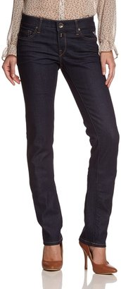Replay Women's Straight Fit Jeans - Blue - Blau (7) - 31/32 (Brand size: 31/32)