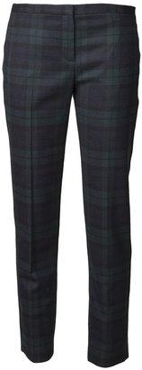 Theory 'Fia' plaid trouser