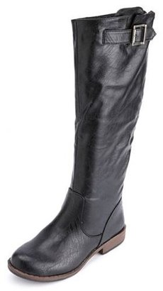 Charlotte Russe Zip-Back Flat Riding Boot