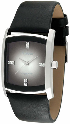 Armitron Mens Black Leather Gray Degrade Watch
