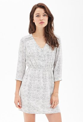 Forever 21 Contemporary Abstract Chevron Henley Dress