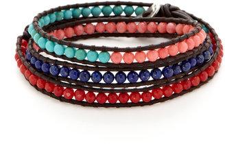 Chan Luu Lapis, Coral, & Turquoise Wrap Bracelet