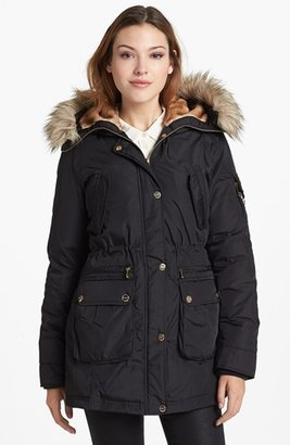 Bebe Faux Fur Trim Parka