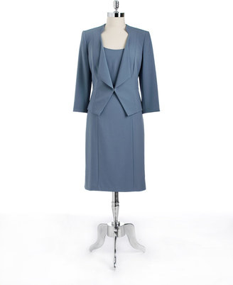 Tahari ARTHUR S. LEVINE Three-Quarter Sleeved Jacket Dress