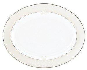 Lenox Dinnerware, Opal Innocence Scroll Large Oval Platter '16