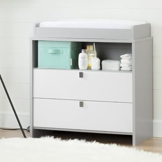 South Shore Cookie Changing Table Dresser Color: Soft Gray and White