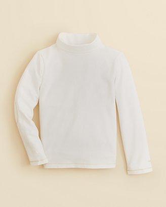 Chloé Girls' Mock Neck Elbow Patch Jersey Top - Sizes 8-14