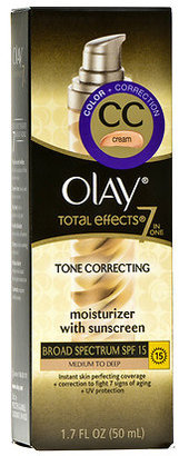 Olay Total Effects CC Cream Tone Correcting Face Moisturizer with Sunscreen Medium to Deep