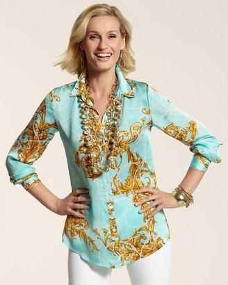 Chico's Royal Regal Janie Shirt