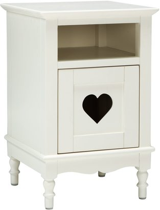 little home at John Lewis Victoria Bedside Table, White