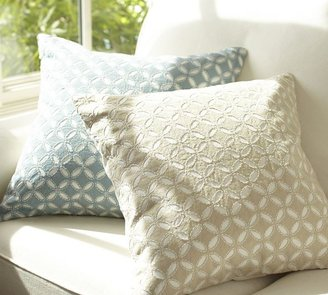 Pottery Barn Audrey Eyelet Applique Pillow Cover