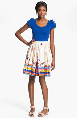 RED Valentino Bouquet Print Skirt