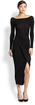 Donna Karan Spiral Drape Dress