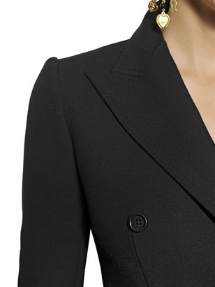 Dolce & Gabbana Double Breasted Diagonal Wool Coat