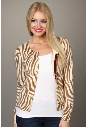 Lucky Brand Zebra Print Cardigan (Natural Multi) - Apparel