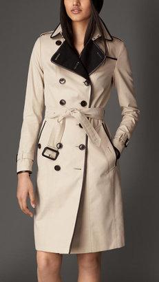 Burberry Cashmere Detail Gabardine Trench Coat