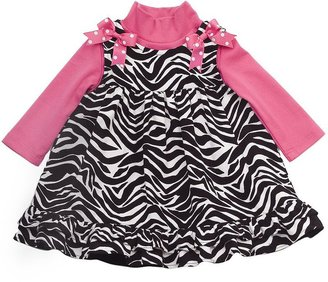 Rare Editions zebra jumper and bodysuit set - baby