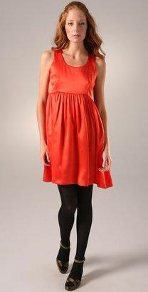 Porter Grey Ruched Waist Sleeveless Dress