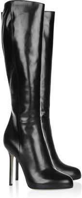 Sergio Rossi Barbie black leather boots