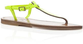 K. Jacques Fluo Jaune Picon Sandals