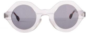 American Apparel Vintage Le Club Optique Round Plastic Sunglasses