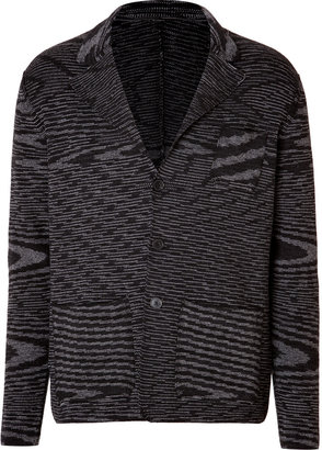 Missoni Wool Blend Variegated Knit Cardigan