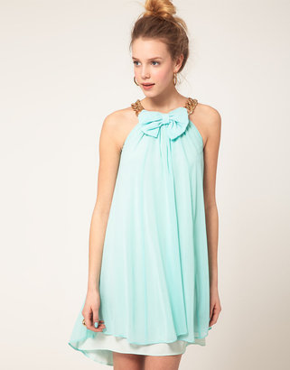 River Island Bow And Chain Dress