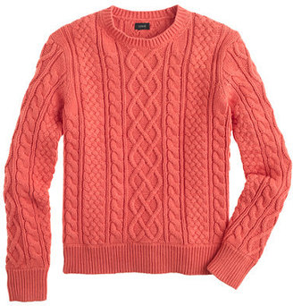 J.Crew Sun-faded cable cotton sweater