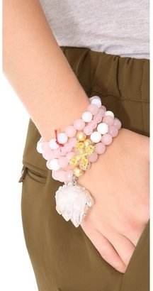 Lead Crystal Rock Bracelet Set