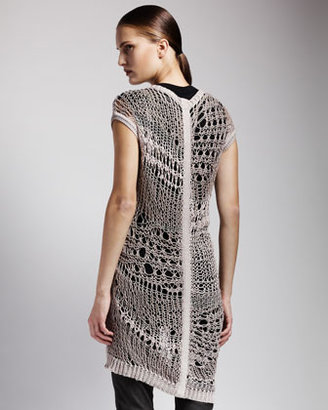 Rick Owens Long Crochet Tunic