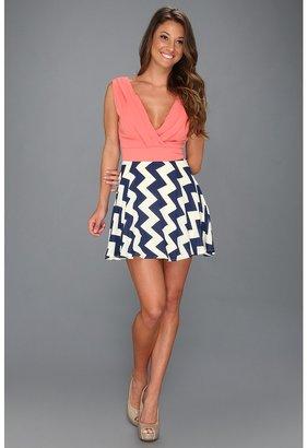 Type Z Walla Zig Zag Print Dress Women's Dress