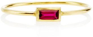 Janis Savitt Diamond Ruby Baguette Ring