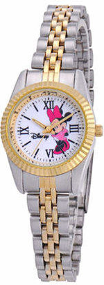 Disney Princess Disney Status Womens Minnie Mouse Two-Tone Metal Bracelet Watch Family