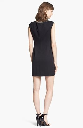Maggy London Studded Ponte Shift Dress