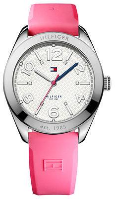 Tommy Hilfiger Watch, Women's Pink Silicone Strap 40mm 1781256
