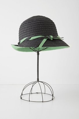 Anthropologie Tipped Straw Cloche